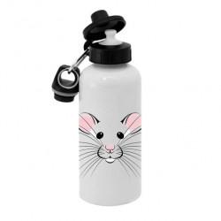 Спортивная бутылка для воды BjK, Б_2020_03 Символ года - Мышь Белая и пушистая
