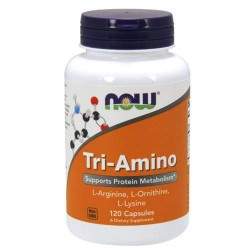 NOW Sports Tri-Amino 120 капсул без вкуса