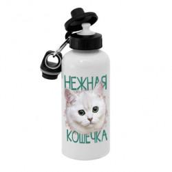 Спортивная бутылка для воды, Б_30_06 Нежная Кошечка