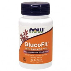 NOW GlucoFit - 60 softgels - препарат для снижения сахара в крови
