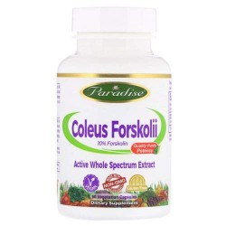 PARADISE HERBS Coleus Forskolii 250 мг - 60 капсул - форсколин, экстракт колеус форсколии