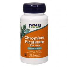 Хром NOW Sports Chromium Picolinate 100 капсул