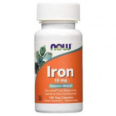 Железо NOW Sports Iron 120 капсул