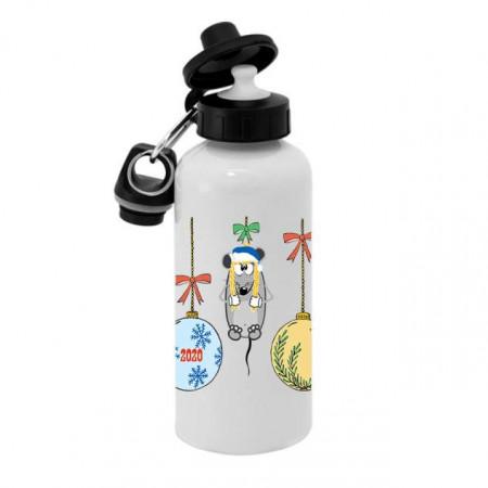 Спортивная бутылка для воды, Б_2020_16 Новогодние мышки - игрушки