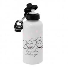 Спортивная бутылка для воды, Б_2020_21 Счастливого нового года