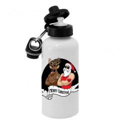 Спортивная бутылка для воды, Б_2020_17 Merry Cristmas