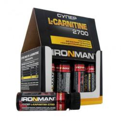 Ironman Супер L-Карнитин 2700, 12 ампул по 60 мл, гранат