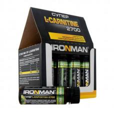 Ironman Супер L-Карнитин 2700, 12 ампул по 60 мл, лимон-лайм