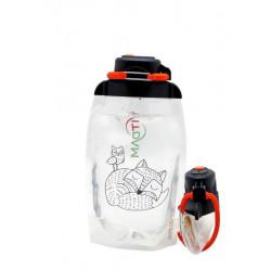 Складная эко бутылка, прозрачная, объём 500 мл - артикул B050TRS-1304 с рисунком