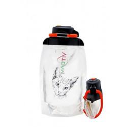 Складная эко бутылка, прозрачная, объём 500 мл - артикул B050TRS-1302 с рисунком