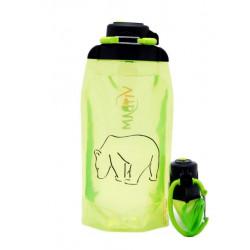 Складная эко бутылка, желто-зеленая, объём 860 мл - артикул B086YGS-1301 с рисунком