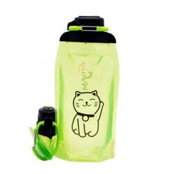 Складная эко бутылка, желто-зеленая, объём 860 мл - артикул B086YGS-1305 с рисунком