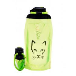Складная эко бутылка, желто-зеленая, объём 860 мл - артикул B086YGS-1306 с рисунком