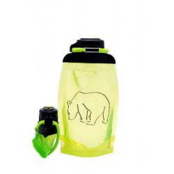 Складная эко бутылка, желто-зеленая, объём 500 мл - артикул B050YGS-1301 с рисунком