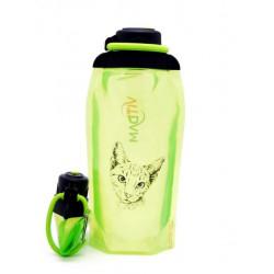 Складная эко бутылка, желто-зеленая, объём 860 мл - артикул B086YGS-1302 с рисунком