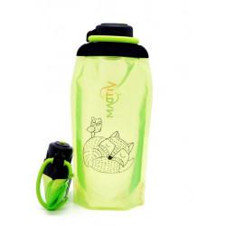 Складная эко бутылка, желто-зеленая, объём 860 мл - артикул B086YGS-1304 с рисунком