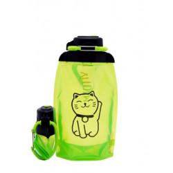 Складная эко бутылка, желто-зеленая, объём 500 мл - артикул B050YGS-1305 с рисунком