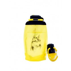 Складная эко бутылка, желтая, объём 500 мл - артикул B050YES-1303 с рисунком
