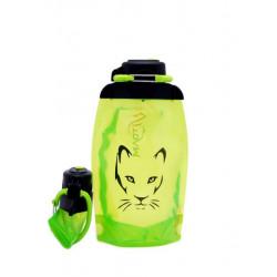Складная эко бутылка, желто-зеленая, объём 500 мл - артикул B050YGS-1306 с рисунком