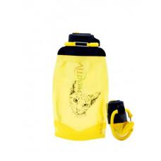Складная эко бутылка, желтая, объём 500 мл - артикул B050YES-1302 с рисунком