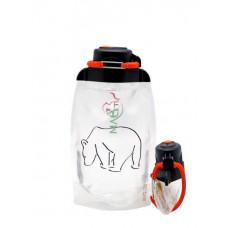 Складная эко бутылка, прозрачная, объём 500 мл - артикул B050TRS-1301 с рисунком