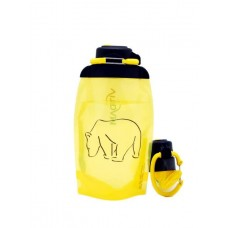 Складная эко бутылка, желтая, объём 500 мл - артикул B050YES-1301 с рисунком