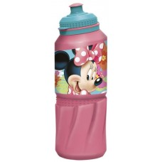 Бутылка пластиковая Stor - спортивная 530 мл. Минни Маус Цветы, артикул 14535