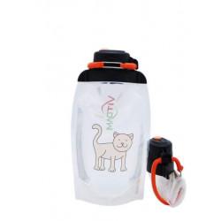 Складная эко бутылка, прозрачная, объём 500 мл - артикул B050TRS-609 с рисунком