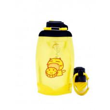 Складная эко бутылка, желтая, объём 500 мл - артикул B050YES-209 с рисунком