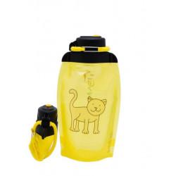 Складная эко бутылка, желтая, объём 500 мл - артикул B050YES-609 с рисунком