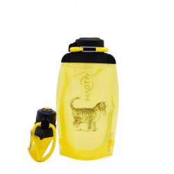 Складная эко бутылка, желтая, объём 500 мл - артикул B050YES-611 с рисунком