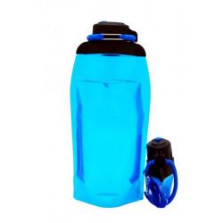 Складная эко бутылка, синяя, объём 860 мл - артикул B086BLS
