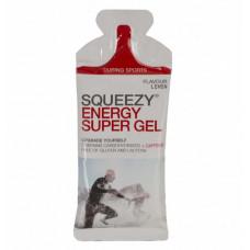 Гель углеводный с электролитами и кофеином SQUEEZY ENERGY SUPER GEL, лимон