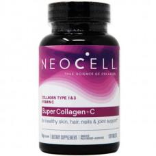 Neocell Super Collagen C - 120 таблеток - коллаген тип 1 и 3 с витамином C в таблетках
