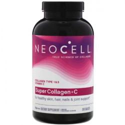 Neocell Super Collagen C - 360 таблеток - коллаген тип 1 и 3 с витамином C в таблетках