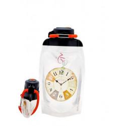 Складная эко бутылка, прозрачная, объём 500 мл - артикул B050TRS-601 с рисунком
