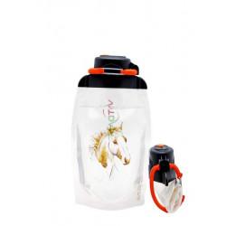 Складная эко бутылка, прозрачная, объём 500 мл - артикул B050TRS-613 с рисунком
