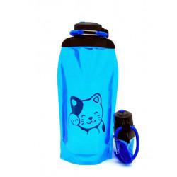 Складная эко бутылка, синяя, объём 860 мл - артикул B086BLS-1406 с рисунком