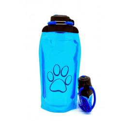Складная эко бутылка, синяя, объём 860 мл - артикул B086BLS-1414 с рисунком
