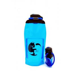 Складная эко бутылка, синяя, объём 860 мл - артикул B086BLS-208 с рисунком