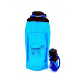 Складная эко бутылка, синяя, объём 860 мл - артикул B086BLS-611 с рисунком