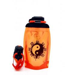Складная эко бутылка Vitdam B050ORS-604 оранжевая 500 мл