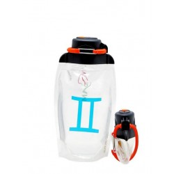 Складная эко бутылка Vitdam B050TRS-1008 прозрачная 500 мл