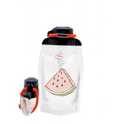 Складная эко бутылка Vitdam B050TRS-617 прозрачная 500 мл
