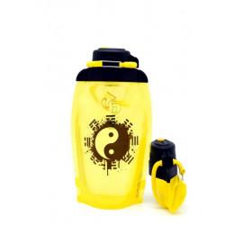 Складная эко бутылка Vitdam B050YES-604 желтая 500 мл