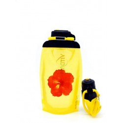 Складная эко бутылка Vitdam B050YES-605 желтая 500 мл