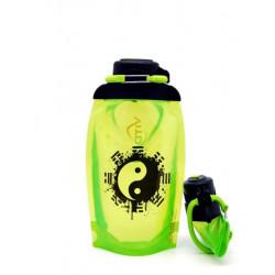 Складная эко бутылка Vitdam B050YGS-604 желто-зеленая 500 мл