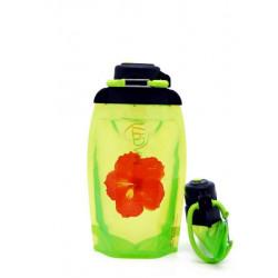 Складная эко бутылка Vitdam B050YGS-605 желто-зеленая 500 мл