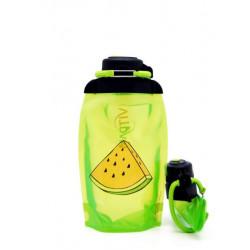 Складная эко бутылка Vitdam B050YGS-617 желто-зеленая 500 мл