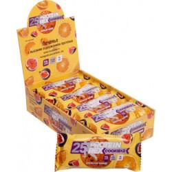 Печенье протеиновое ProteinRex апельсин/инжир 12 штук по 50 г